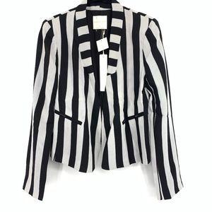Revolve Line & Dot Vertical Stripe Blazer Jacket
